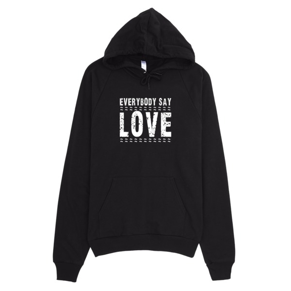WB Hoodie – American Apparel  – Everybody Say Love