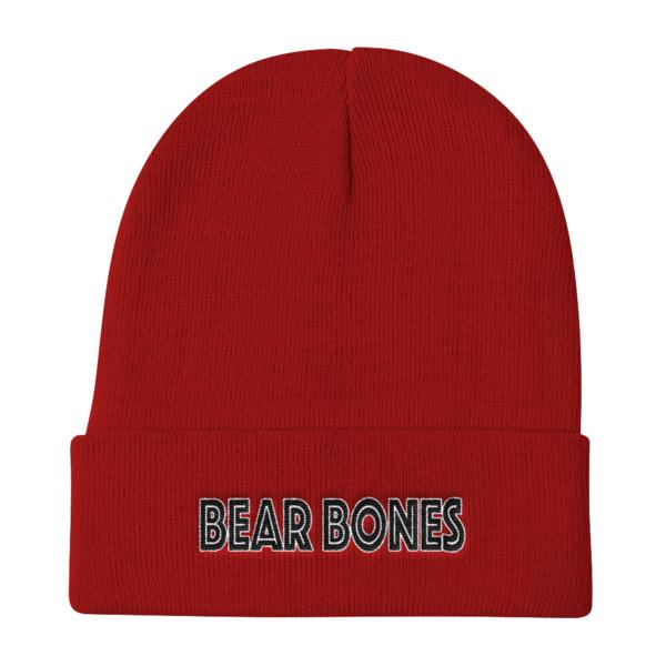 BB – Knit Beanie 12″ – Bear Bones Logo