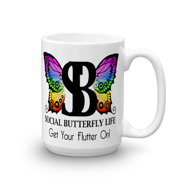 WB BUTTERFLY – 15 oz Mug