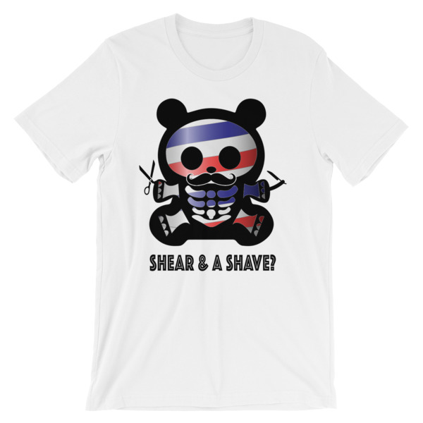 BBX BARBER BEAR – Unisex Fitted Tee