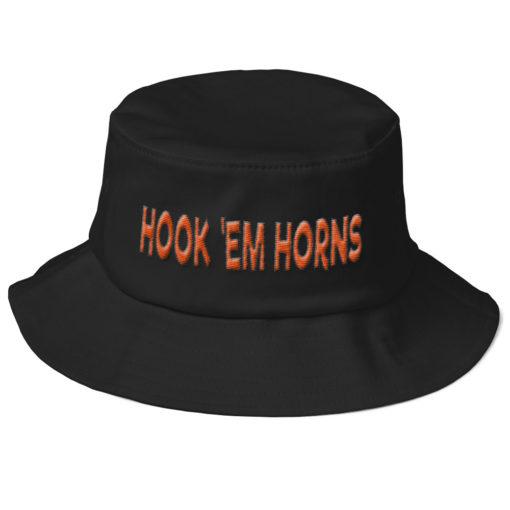 HATS – HOOK 'EM HORNS Old School Bucket Hat