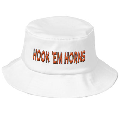 HOOK EM HORNS – Old School Bucket Hat